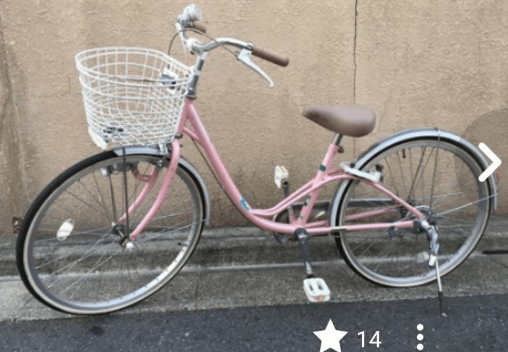 ジモティーに投稿されている子供用自転車の写真です